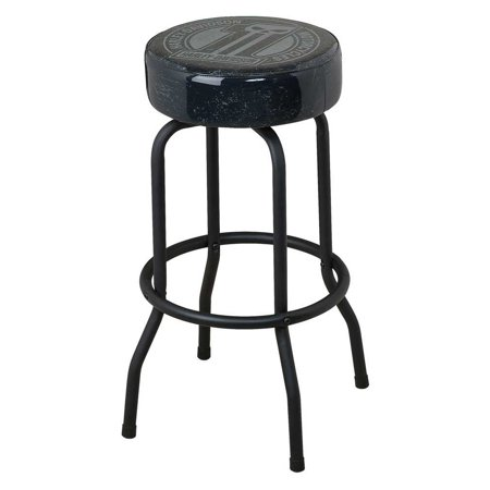 Harley-Davidson Bar Stool Dark Custom #1 Skull 360 Degree Swivel Stool HDL-12130, Harley Davidson ()