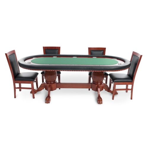 BBO Poker Rockwell 8 Piece Poker Dining Table Set with Dining Chairs by