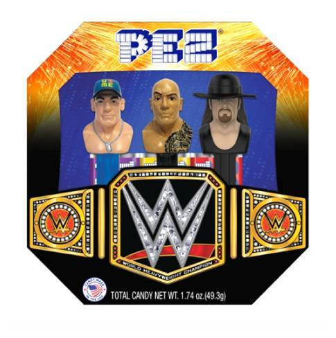 Pez Candy, WWE Superstars, Novelty Candy and 3 Dispensers, 1.74 Oz, 6 Ct](Halloween Novelty Candy)