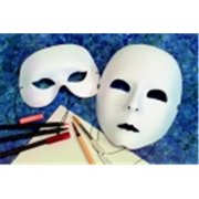 School Specialty Deluxe Satin Wearable Half Mask