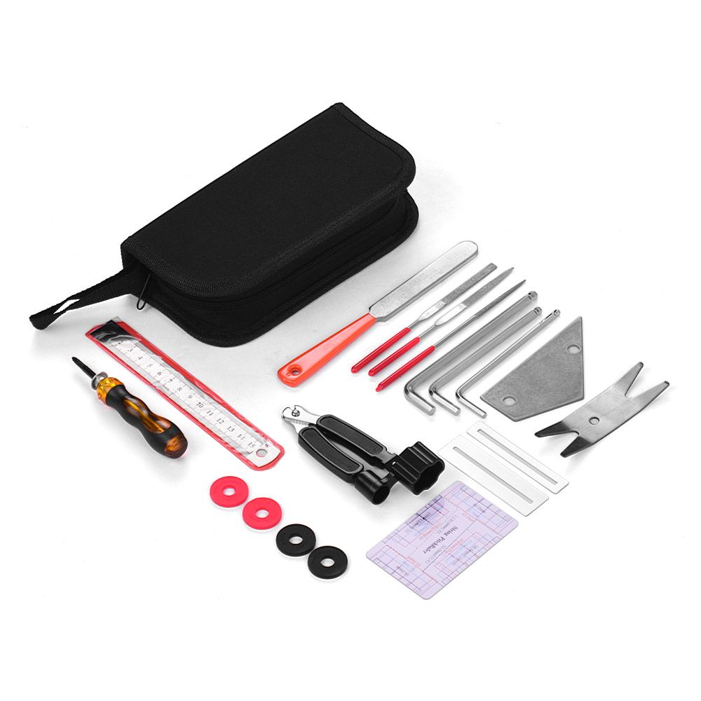 guitar maintenance cleaning tools kit includes hexagon wrenches set screwdriver string winder. Black Bedroom Furniture Sets. Home Design Ideas