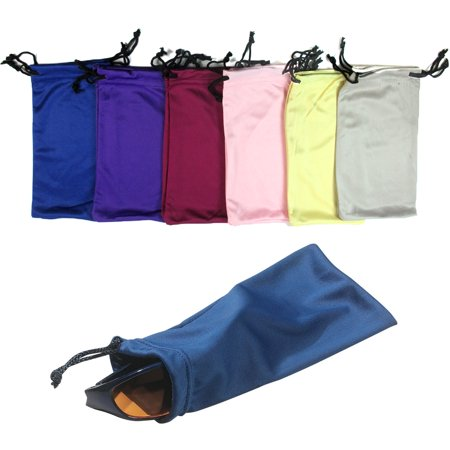 6 Micro Fiber Sunglasses Sunglass Carrying Pouch Case Bag Storage Sleeve (Sun Glasses Case)