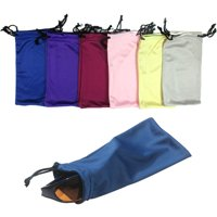 6 Micro Fiber Sunglasses Sunglass Carrying Pouch Case Bag Storage Sleeve Holder