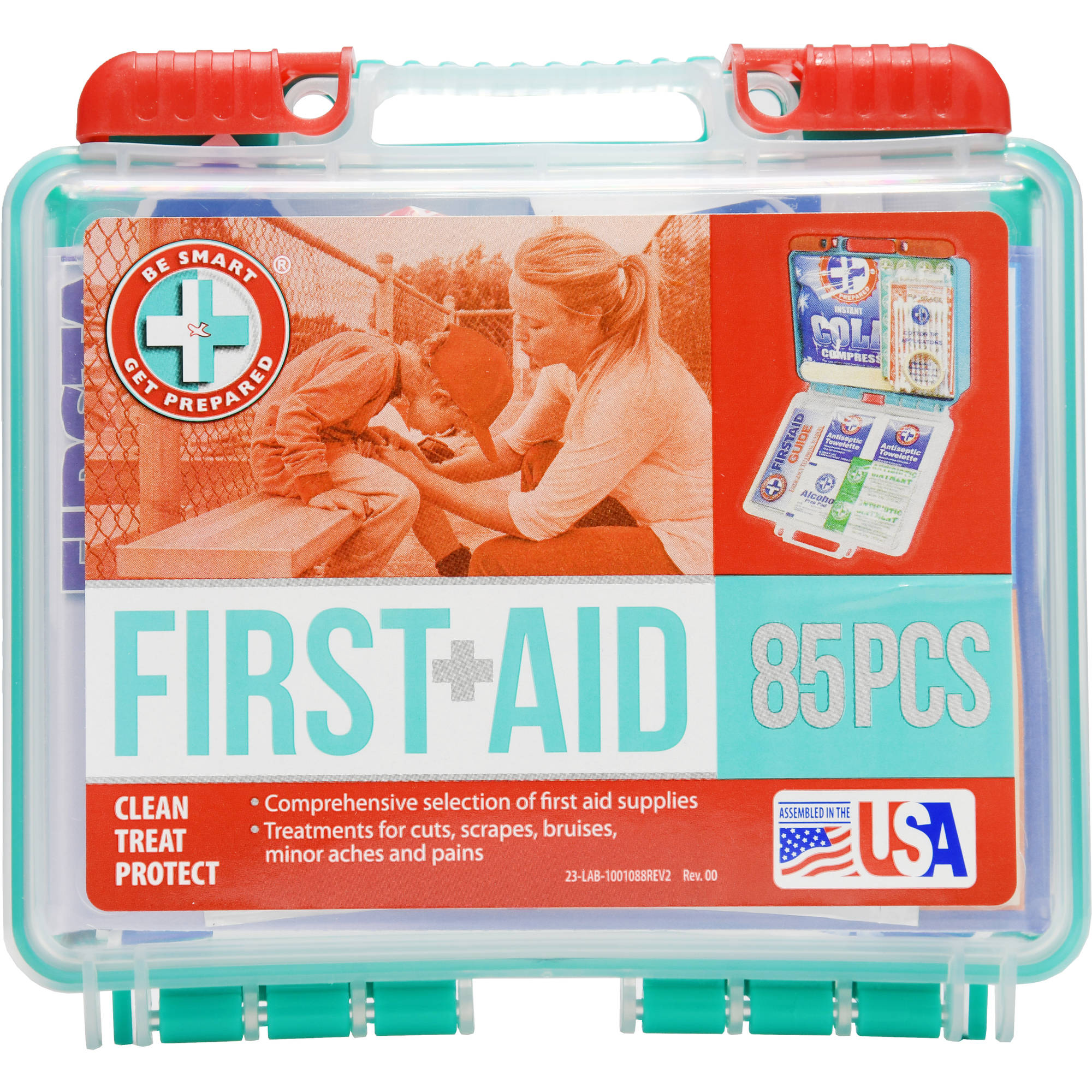 Be Smart Get Prepared First Aid Kit, 85 pc by Total Resources International