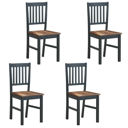 Set of 4 Dining Chair Kitchen Spindle Back Side Chair with Solid Wooden Legs Antique Spindle Back Chairs