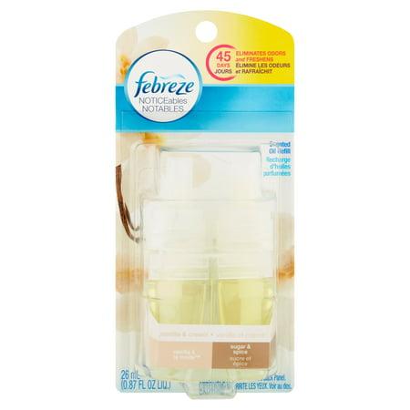 Febreze Noticeables Vanilla Amp Cream Sugar Amp Spice Scented