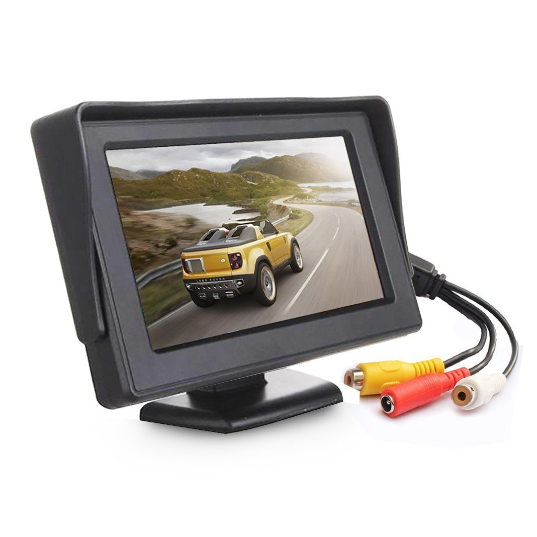 Esky 4.3 Inch TFT LCD Color Display Car Rear View 180 Degree Adjustable Monitor Screen