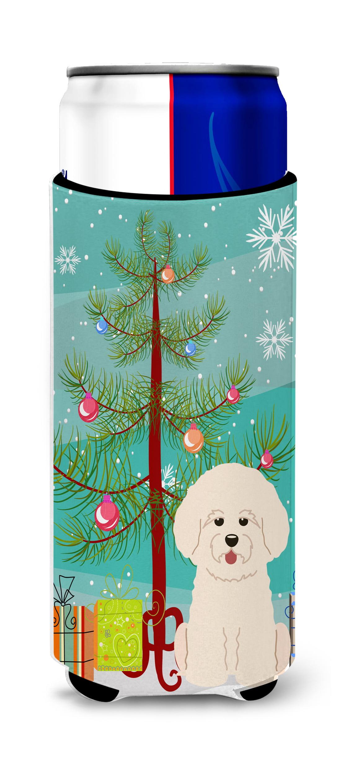 Merry Christmas Tree Bichon Frise Michelob Ultra Hugger for slim