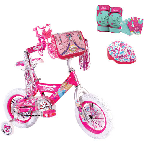 Your Choice: Barbie Girls' Bike  w/ Safety Gears bundle