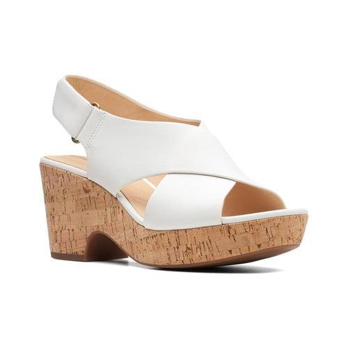 Maritsa Lara White Platform Sandals