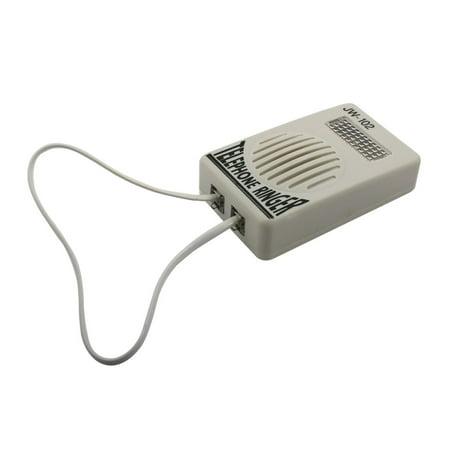 Loud Telephone Ring Volume Enhancer Sound Amplifier Ringtone Lamp Flasher  Gray