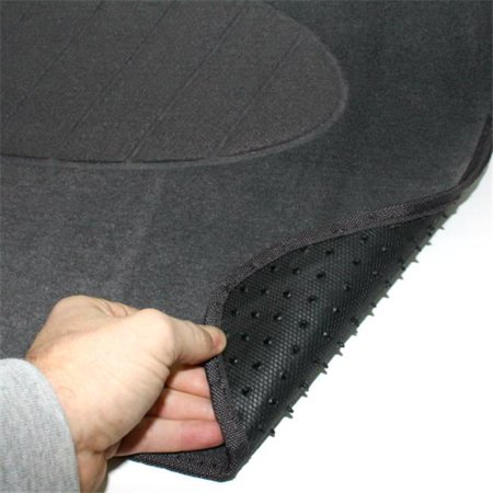 C Accessories Mats 4 Pieces Black Carpet Interior With Heel Pad Floor Mat Set - image 1 de 1
