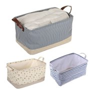 Willstar Fabric Storage Basket Box Drawer Cube Toys Books Clothes Shelving Organiser Bag