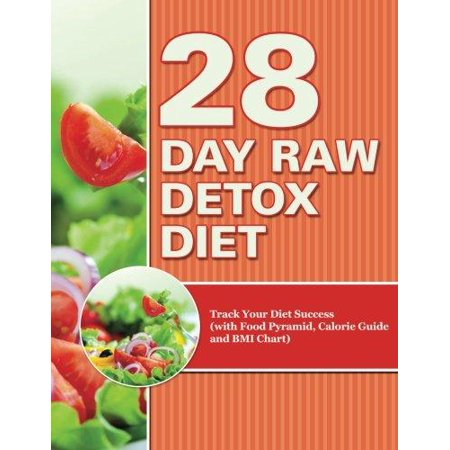 28 Day Raw Detox Diet  Track Your Diet Success  With Food Pyramid  Calorie Guide And Bmi Chart