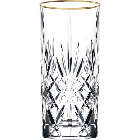 - Lorren Home Trends Siena Crystal Water/Beverage/Ice tea Glass (Set of 4)