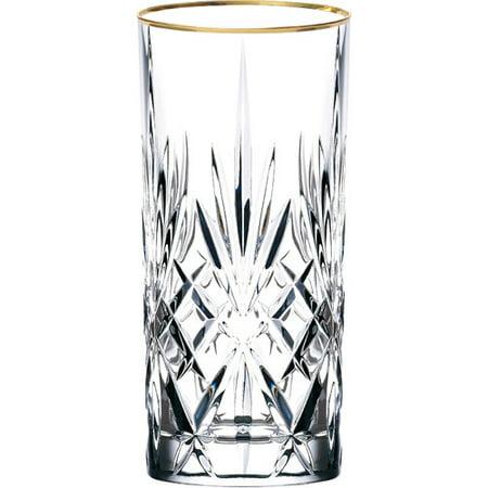 - Lorren Home Trends Siena Crystal Water/Beverage/Ice tea Glass (Set of 4)