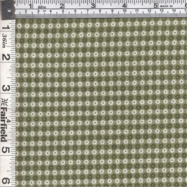 Textile Creations CALI-456 Calico New Arrivals 3, Small Flower Green & Ivory