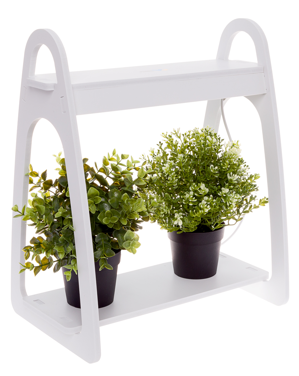 Mindful Design White Led Indoor At Home Mini Planter Counter Top Herb Garden Kit