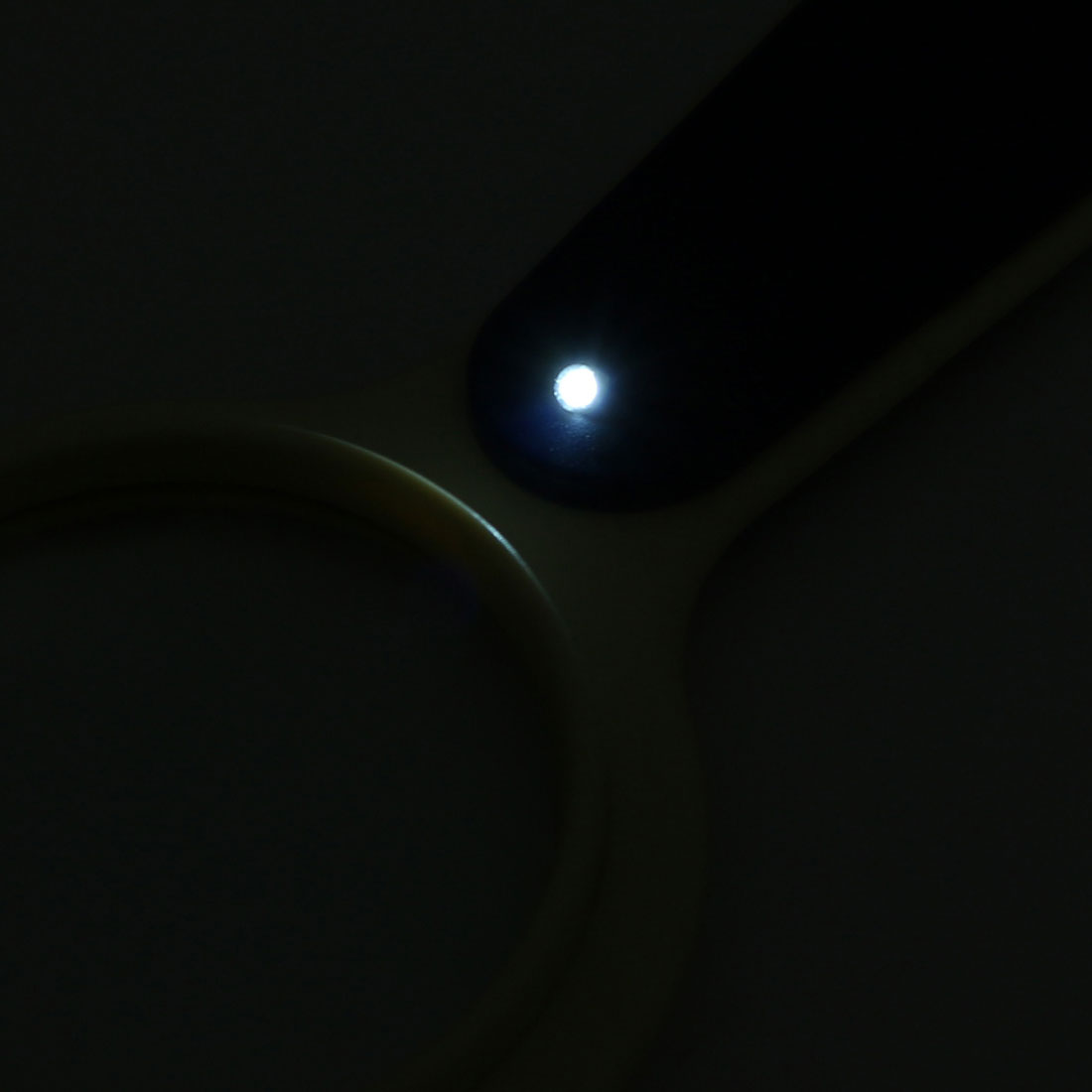 LED Light 5X 10X Illuminated Magnifier Handheld Magnifying Glass w Compass - image 2 of 4