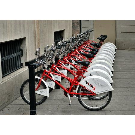 LAMINATED POSTER Car Rental Barcelona Bicycles Bicycle Parking Poster Print 24 x 36](Cheap Rental Cars Okc)