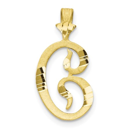 Gold Wrapped Pendant - 10k Yellow Gold Grooved Initial Monogram Name Letter C Pendant Charm Necklace Fine Jewelry For Women Gift Set