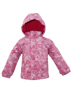 Iceburg Baby Toddler Girl Insulated Floral Winter Jacket Coat