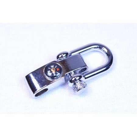 Stainless Steel Adjustable Compass Shackle - 5 pack - Great for Paracord Crafts - Paracord Compass