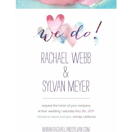 Ombre Hearts Standard Wedding Invitation