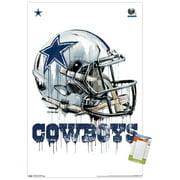 NFL Dallas Cowboys - Drip Helmet Poster