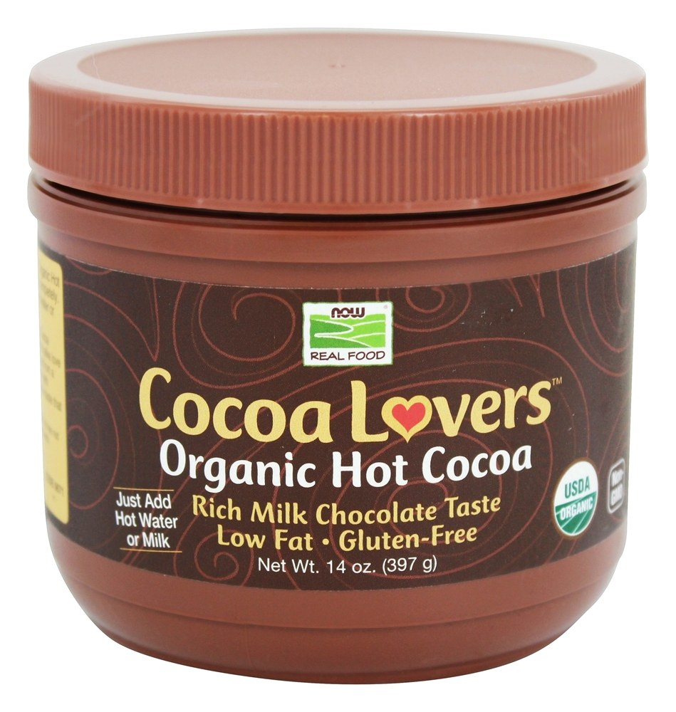 NOW Foods – Cocoa Lovers Organic Hot Cocoa – 14 oz.