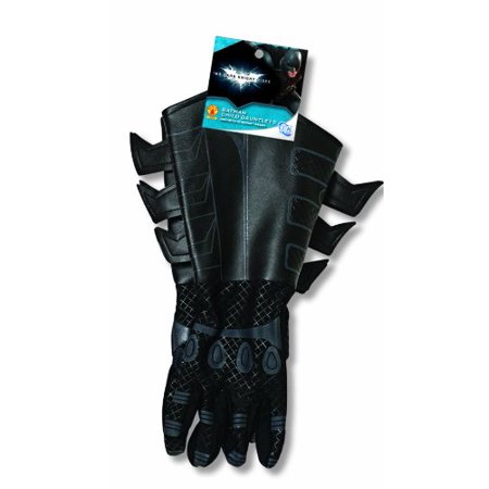Batman: The Dark Knight Rises: Batman Gloves with Gauntlets, Child Size (Best Batman Cosplay Ever)