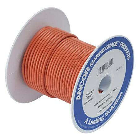 Ancor 182503 Marine Grade Electrical Primary Tinned Copper Boat Wiring (16-Gauge, Orange, 25-Feet)