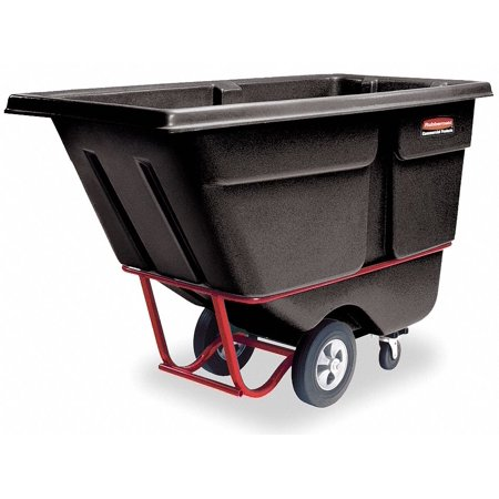 Rubbermaid Black Tilt Truck, 13.5 cu. ft. Capacity, 1400 lb. Load - Black Tilt Truck