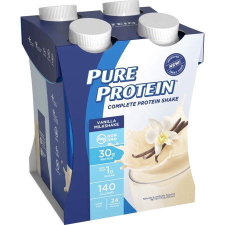 Pure Protein Shake, Vanilla, 30g Protein, 4 (Best Pure Protein Of The Proteins)