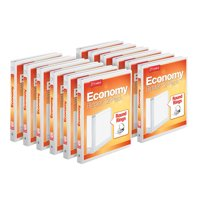 (12 Pack) Cardinal 1 Inch Economy Value ClearVue Binder, XtraLife Hinge, White