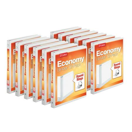 (12 Pack) Cardinal 1 Inch Economy Value ClearVue Binder, XtraLife Hinge, White