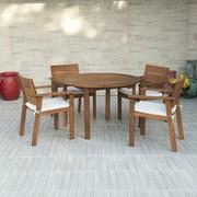Nelson Eucalyptus 5-Piece Round Patio Dining Set
