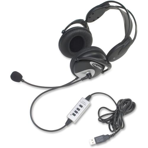 Califone Usb Headphones Wired W/ Unidirectional Mic - Stereo - Wired
