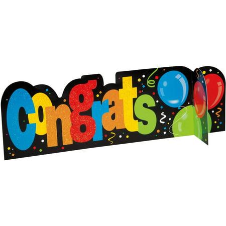 Baseball Balloon Centerpiece ((3 pack) Congrats Balloon Centerpiece Decoration, 14