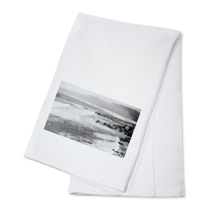 Point Arena, California - View of the Mouth of the Garcia River (100% Cotton Kitchen Towel)