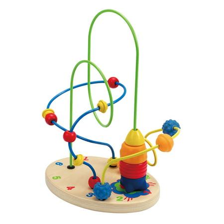 Hape Toys Totally Amazing Countdown Children's Activity Wooden Bead Maze (Farm Activity Toy)