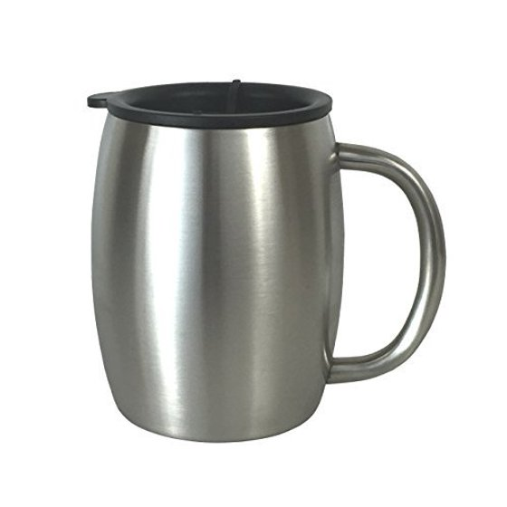 Stainless Steel Coffee Mug With Lid 14 Oz Double Walled Insulated