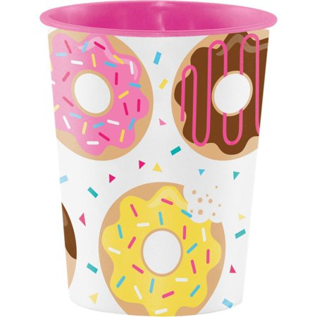 Creative Converting Donut Time Plastic Keepsake Cup 16 Oz.