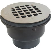 oatey 42044 2-part abs-solvent weld shower drain with stainless steel strainer, 2-inch