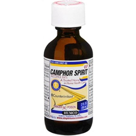 Humco Camphor Spirit USP 2 oz (Camphor Glass)
