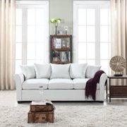 Traditional Ultra Comfortable Linen Fabric Sofa