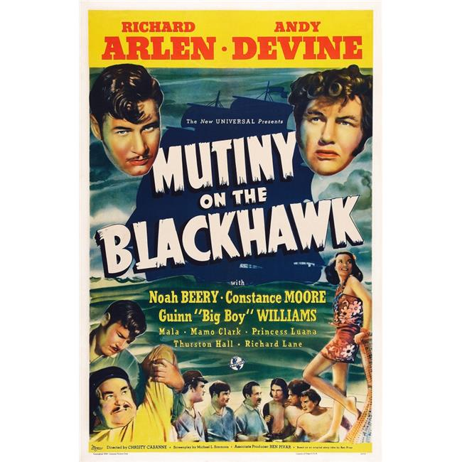 Everett Collection EVCMCDMUONEC062HLARGE Mutiny On The Blackhawk US Poster Art Top From Left - Richard Arlen Andy Devine - Bottom Left - Richard Arlen Noah Beery 1939 Movie Poster Masterprint, 24  - image 1 of 1