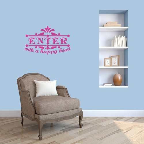 Winston Porter Holbrooke Enter With A Happy Heart Wall Decal