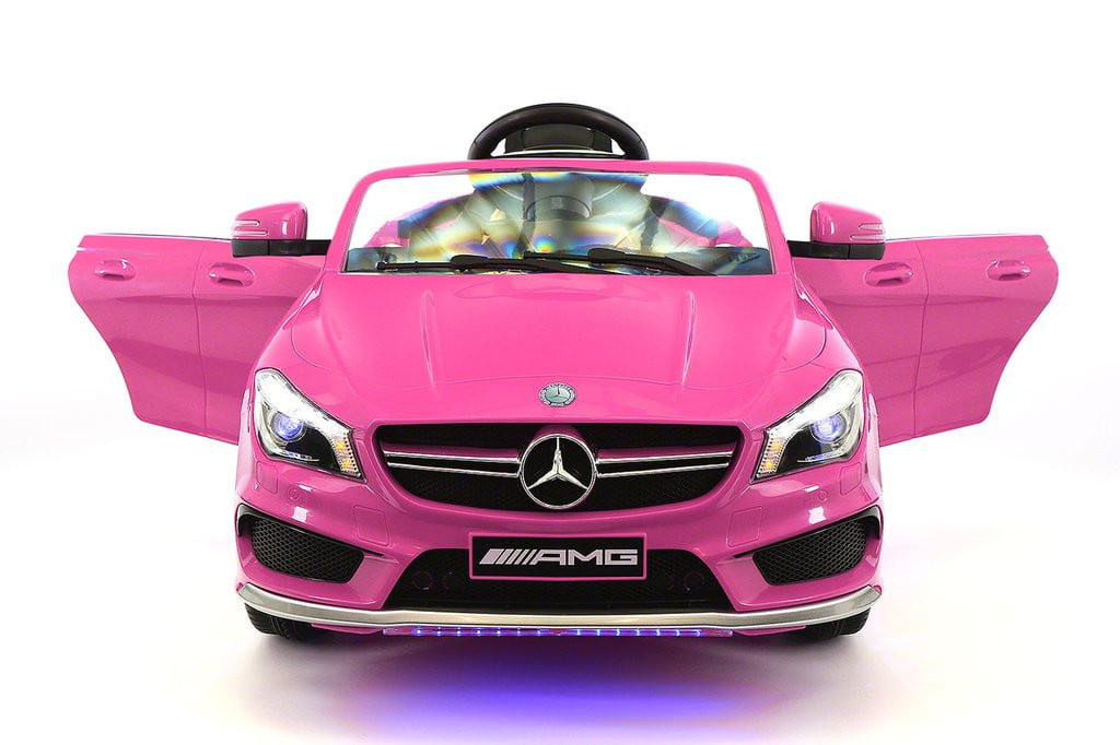 Mercedes CLA45 12V Kids Ride-On Car MP3 USB Player Battery Powered Wheels R C Parental Remote | Pink by