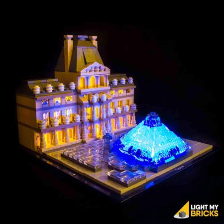 LIGHTING KIT FOR LOUVRE 21024 (BUILDING SET NOT INCLUDED) BY LIGHT MY (Brick Three Light)
